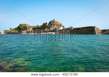 The Old Castle In Corfu Town On The Greek Island Of Kerkyra (corfu) In The Adriatic Sea
