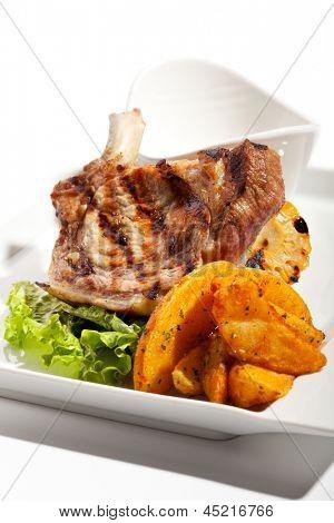 Pork Brisket with Potato and Sauce