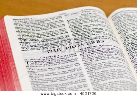 Bible Page - Proverbs