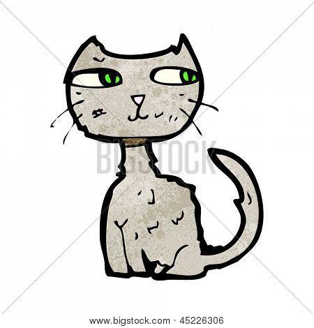 scruffy cat cartoon