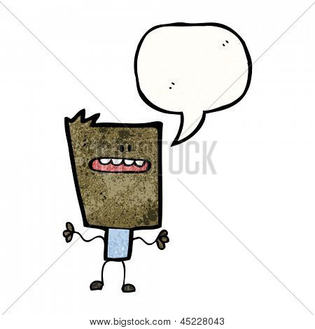 cartoon square man