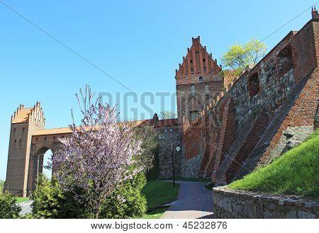 Medieval castle in Kwidzyn. Poland