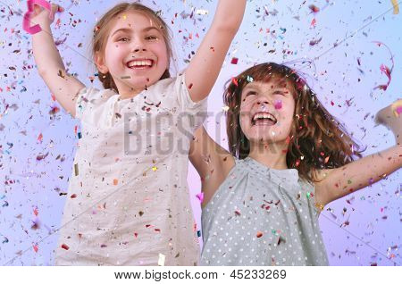Children Having Fun At The Party