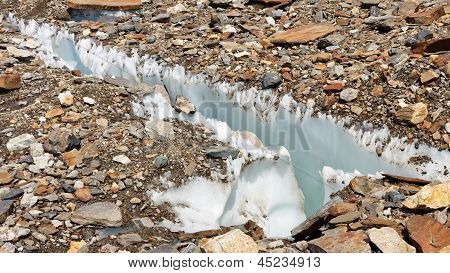 Crevasse At Baltoro Glacier