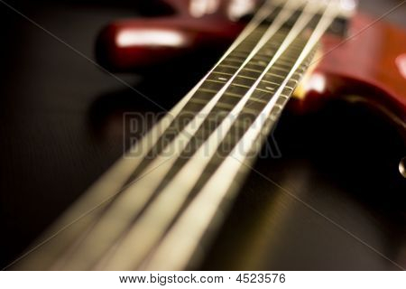 Electric Guitar With Depth Of Field