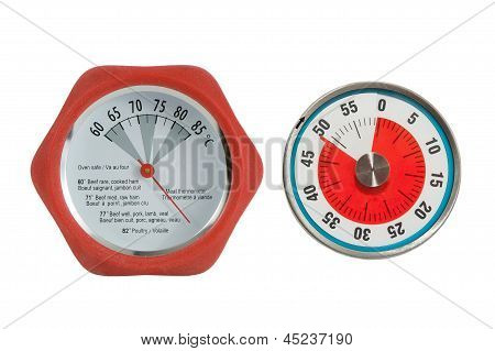meat thermometer and kitchen timer