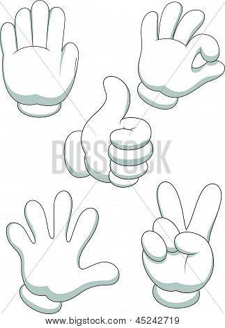 Hand sign cartoon