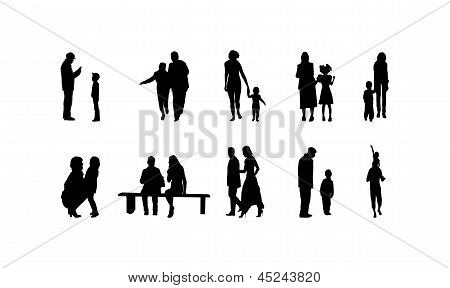Different Family Silhouettes