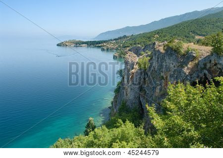 coast of Ohrid lake near Trpejca, Republic of Macedonia