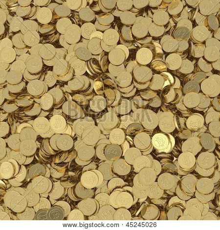 golden bitcoin coins