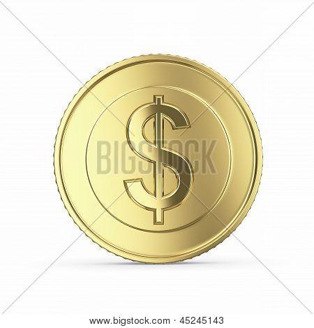 Golden dollar coin