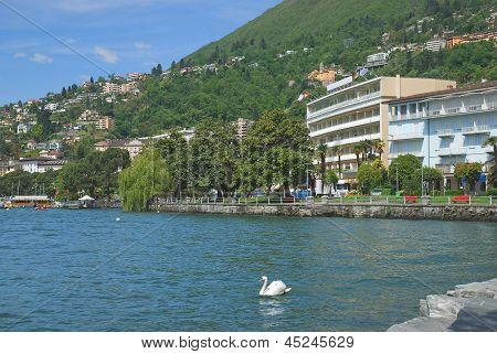 Promenade of Locarno,Lake Maggiore