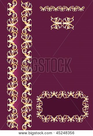 Ornate cover background