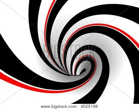 Black And Red Retro Swirl