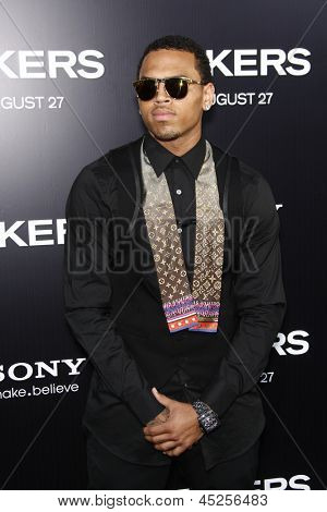 LOS ANGELES - AUG 4: Chris Brown at the World Premiere of Takers, held at the Arclight Cinerama Dome in Los Angeles, California on 4 August 2010