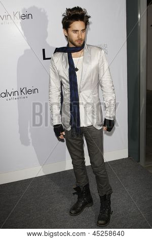 LOS ANGELES - JAN 28: Jared Leto at the Calvin Klein Collection & LA Nomadic Division 1st Annual Celebration For L.A. Arts Monthly + Art LA Contemporary on January 28, 2010 in Los Angeles, CA