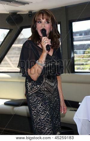LOS ANGELES - APR 21:  Kate Linder at the Wolveck 70th Anniversary Celebration at the Dream On Yacht at Fisherman's Village Marina on April 21, 2013 in Marina Del Rey, CA