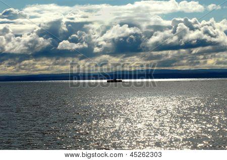 Boat In Silhouette