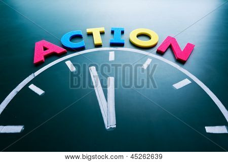 Time To Action Concept