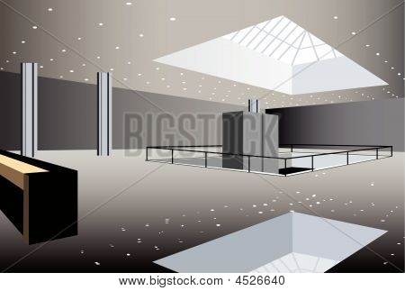 Business Hall Interior, Vector