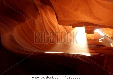 Amazing Light Beam in Antelope Canyon,Arizona