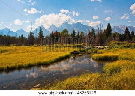 Beautiful Teton Reflection in Grand Teton National Park