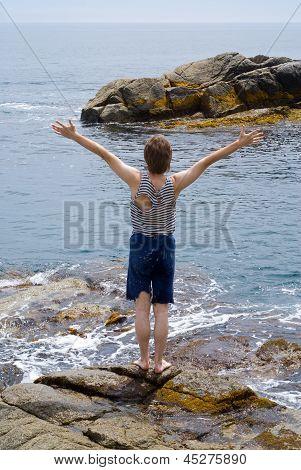 Boy At Sea