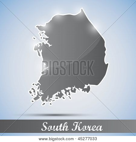 shiny icon in form of South Korea