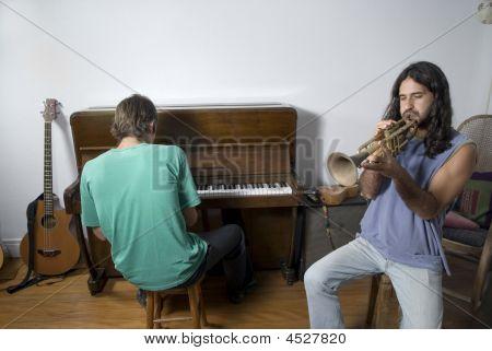 Men Playing Music - Horizontal