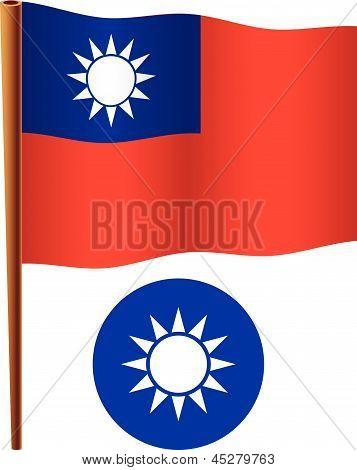Taiwan Wavy Flag