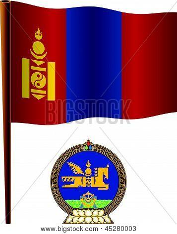 Mongolia Wavy Flag