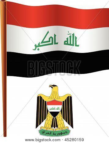 Iraq Wavy Flag