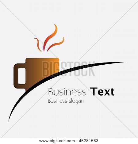 Freshly Brewed Coffee In A Cafe Or Cafeteria- Vector Graphic