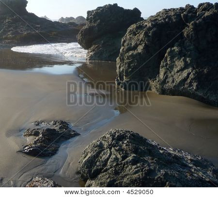 Small Riptide On Rocky Beach
