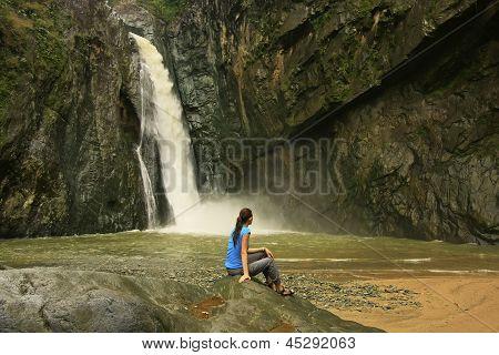 Salto Jimenoa Uno Waterfall, Jarabacoa, Dominican Republic