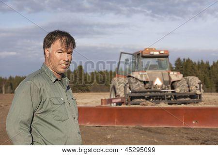 Farmer taking a small break