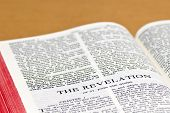pic of revelation  - Close up of Revelation holy bible page - JPG
