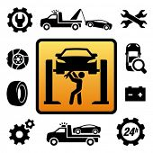 stock photo of wreckers  - Car repair icon - JPG