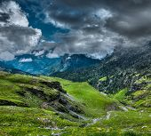 stock photo of himachal pradesh  - Mountain landscape in Himalayas - JPG