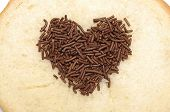 Heart Shape Chocolate Sprinkles
