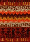 foto of lamas  - The Peruvian woolen color is viscous from a yarn of a lama or the alpaca - JPG