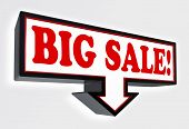 Big Sale Red And Black Arrow Sign