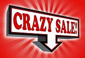 Crazy Sale Money Red And Black Arrow Sign