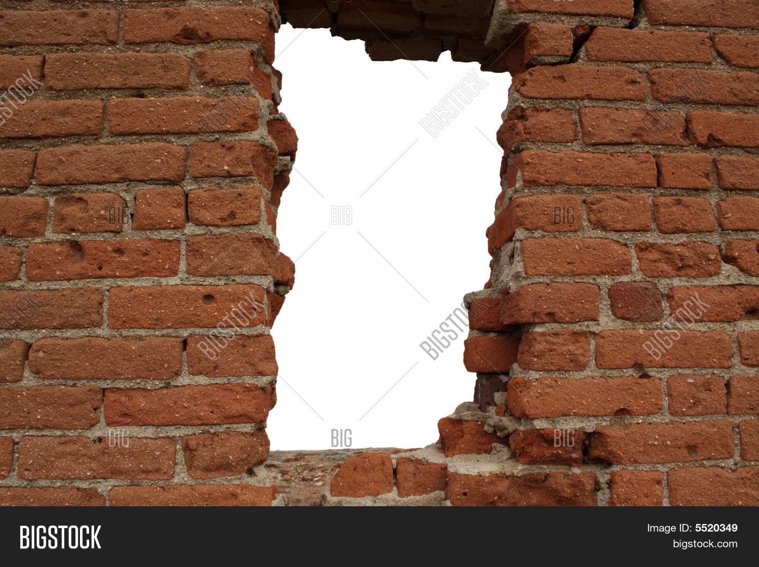 Hole In Brick Wall Stock Photo & Stock Images | Bigstock