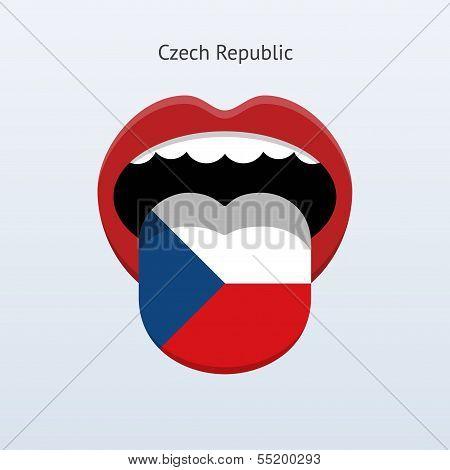 Czech Republic language. Abstract human tongue.