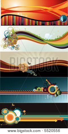 Vector Banner Stripes