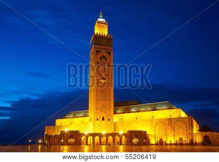 Hassan II Mosque in Casablanca, Morocco Africa