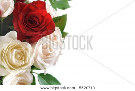Background With A Rose