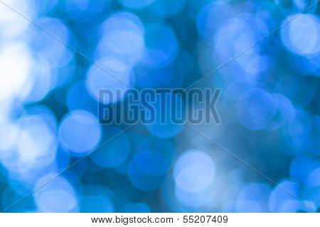 blue bokeh, bright winter background