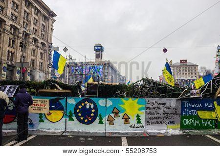 Posters On Maidan In Kiev
